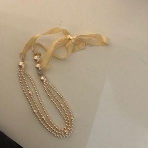 J. Crew white pearl necklace